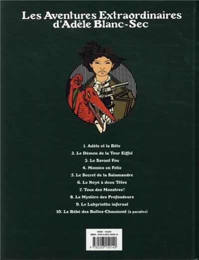 Dos Adèle Blanc-Sec - édition 2018 tome 8