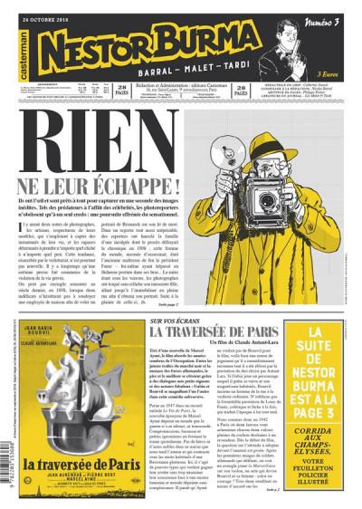 Couverture Nestor Burma - Corrida aux Champs Elysées - journal tome 3