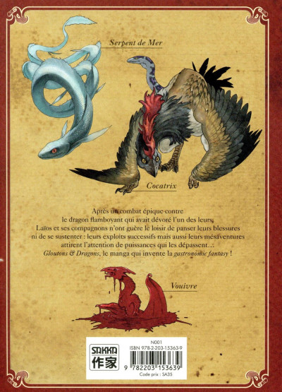 Dos Gloutons et dragons tome 5
