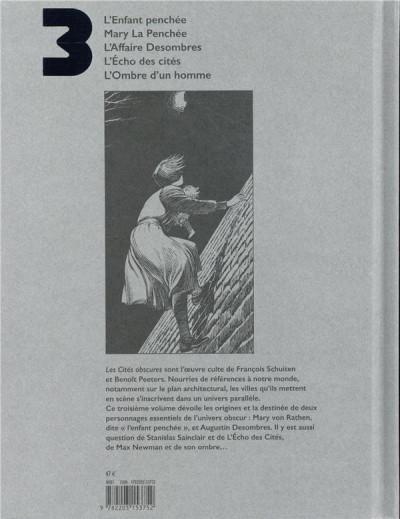 Dos Les cités obscures - intégrale tome 3