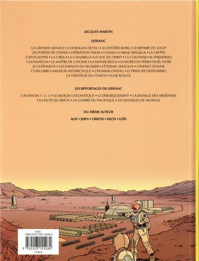 Dos Les reportages de Lefranc - La conquête spatiale