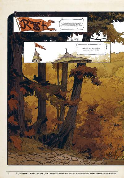 Page 1 Le château des animaux - gazette tome 1