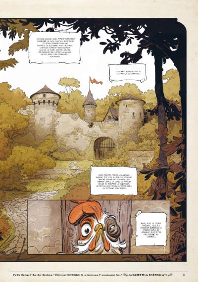 Page 2 Le château des animaux - gazette tome 1