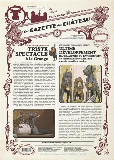Couverture Le château des animaux - gazette tome 2