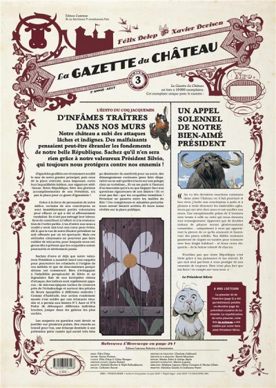 Couverture Le château des animaux - gazette tome 3