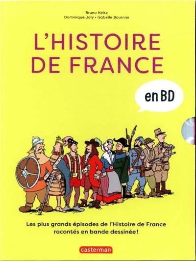 Couverture L'histoire de France en BD - coffret