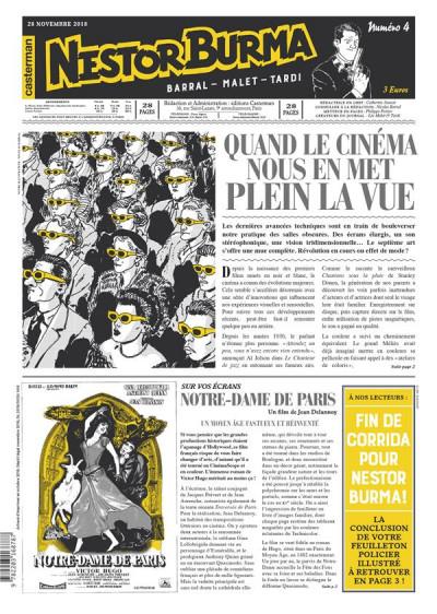 Couverture Nestor Burma - Corrida aux Champs Elysées - journal tome 4