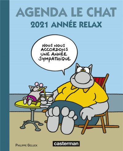 Couverture Agenda le chat 2021