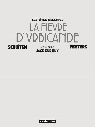 Page 4 Les cités obscures - La fièvre d'urbicande (éd. couleur)