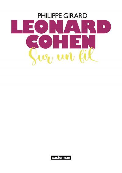 Page 4 Leonard Cohen - Sur un fil
