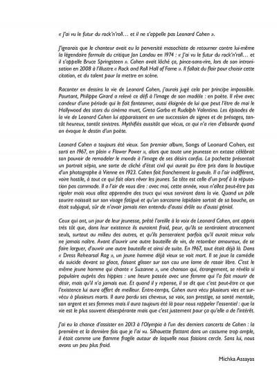 Page 6 Leonard Cohen - Sur un fil