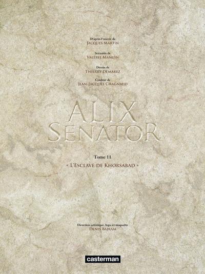 Page 2 Alix Senator tome 11