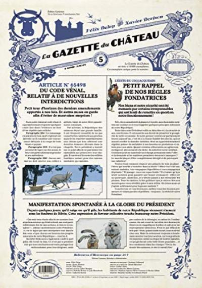Couverture Le château des animaux - gazette tome 5