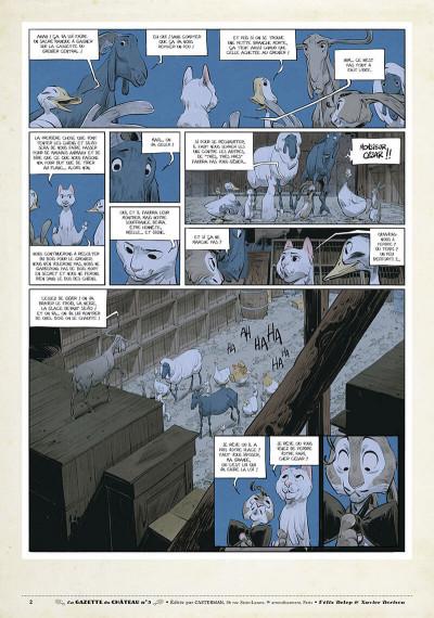 Page 1 Le château des animaux - gazette tome 5