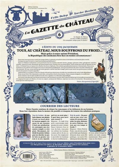 Couverture Le château des animaux - gazette tome 6