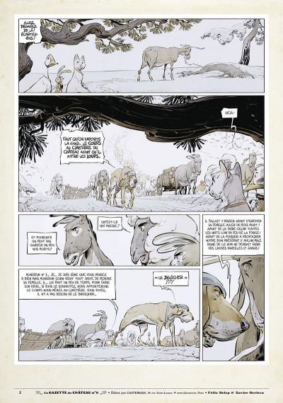Page 1 Le château des animaux - gazette tome 6