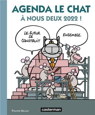 Couverture Agenda le chat 2022