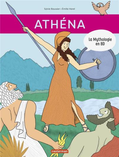 Couverture La mythologie en BD - Athéna