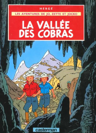 Couverture Jo, zette et jocko tome 5 - la vallée des cobras