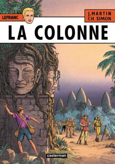 Couverture lefranc tome 14 - la colonne - édition de luxe
