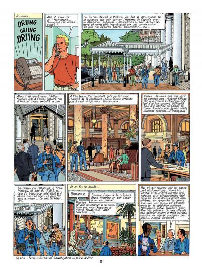 Page 6 Lefranc tome 13 - le vol du spirit