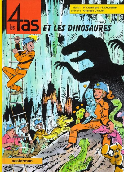 Couverture Les 4 as tome 35 - et les dinosaures