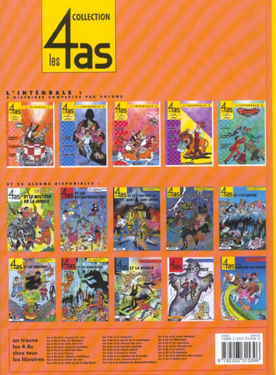 Dos Les 4 as tome 39 - et halloween