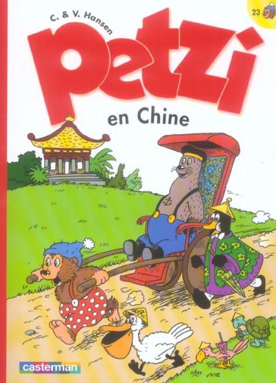 Couverture petzi tome 23 - petzi en chine