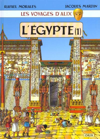 Couverture les voyages d'alix tome 2 - l'egypte tome 1 - karnak-louxor