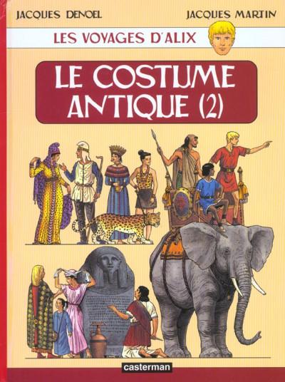 Couverture Les voyages d'alix tome 10 - le costume antique tome 2