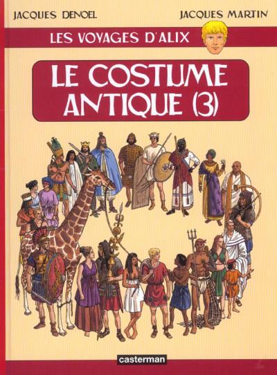 Couverture Les voyages d'alix tome 14 - le costume antique tome 3