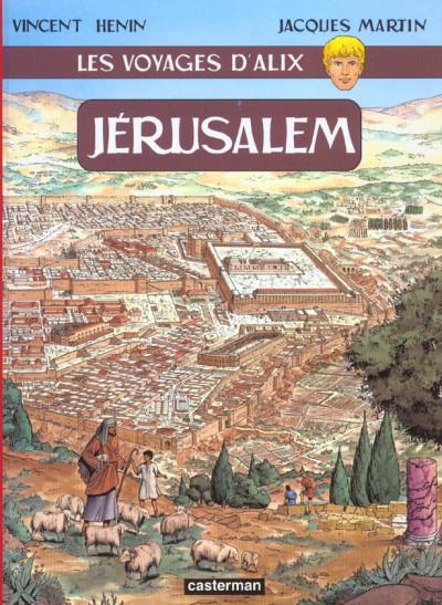 Couverture les voyages d'alix tome 15 - jérusalem