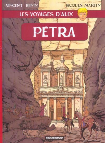 Couverture les voyages d'alix tome 18 - Pétra