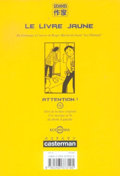 Dos le livre jaune ; un ami nommé jacques thibault