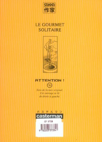 Dos Le gourmet solitaire