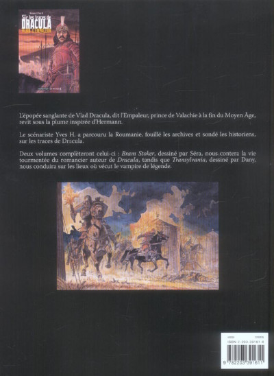 Dos Sur les traces de dracula tome 1 - vlad l'empaleur