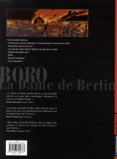 Dos Boro reporter photographe tome 3 - la dame de berlin tome 3
