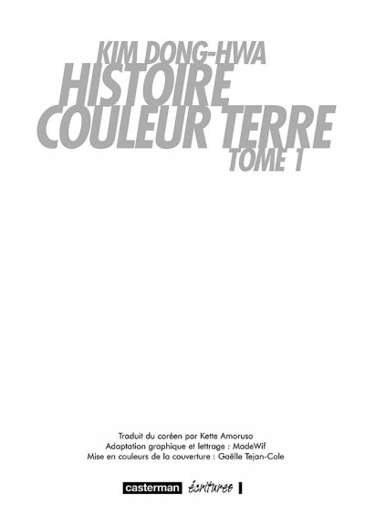 Page 2 Histoire couleur terre tome 1