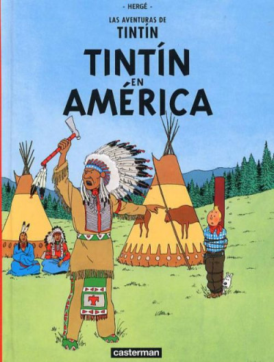 image de tintin tome 3 - fac similé espagnol - tintin en amérique