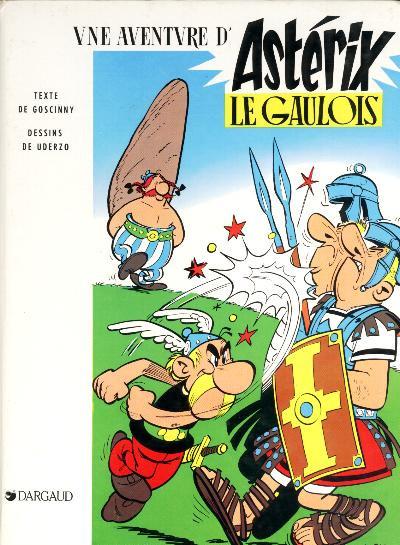 Couverture Astérix tome 1 - Astérix le gaulois (éd. 1983)
