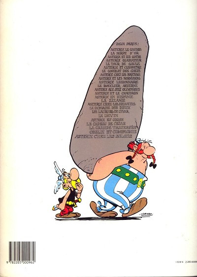 Dos Astérix tome 1 - Astérix le gaulois (éd. 1983)