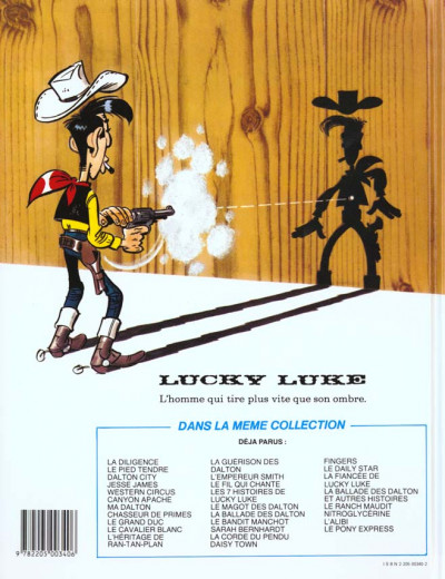 Dos Lucky luke tome 3 - ancienne édition
