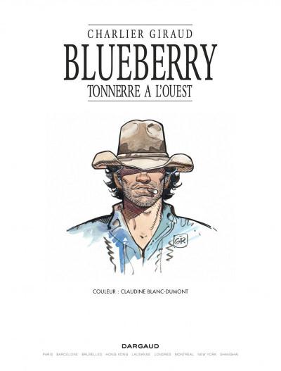Page 1 Blueberry tome 2 - tonnerre à l'ouest