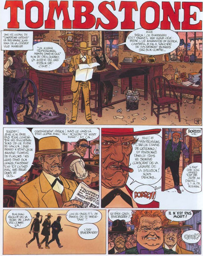 Page 1 Blueberry tome 25 - ombres sur tombstone