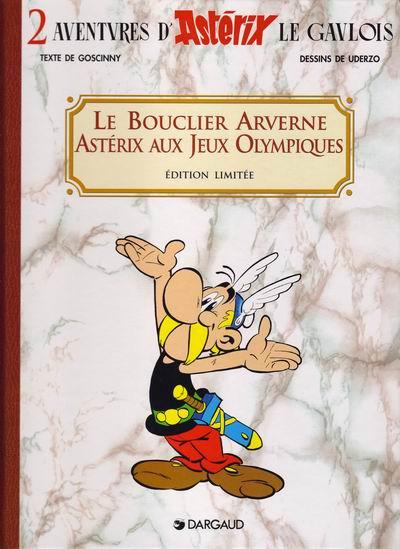 Couverture coffret 2 volumes astérix - le bouclier arverne, astérix aux jeux olympiques