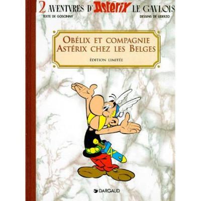 Couverture coffret 2 volumes asterix - obélix et compagnie, asterix chez les belges