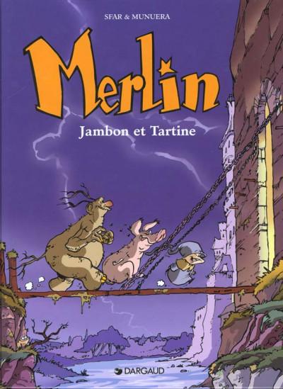 Couverture Merlin tome 1 - jambon et tartine