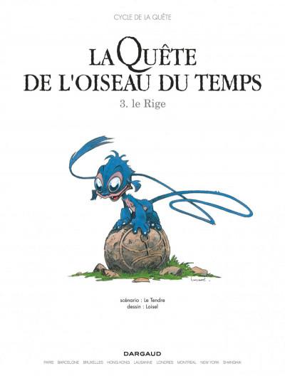 Page 3 La quête de l'oiseau du temps tome 3 - le rige