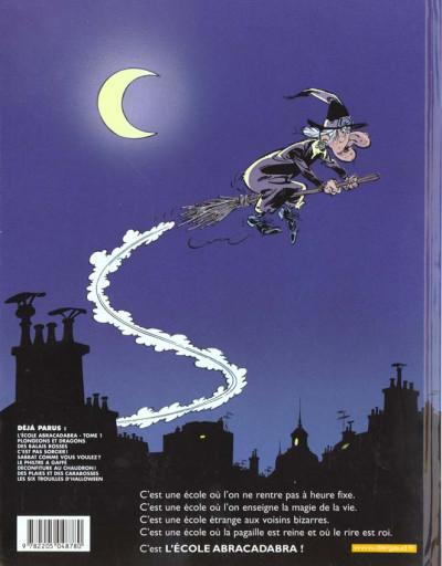 Dos L'éCOLE ABRACADABRA ; les six trouilles d'halloween