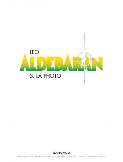 Page 1 Aldebaran tome 3 - la photo